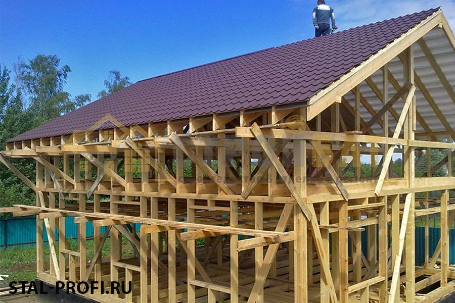 Строительство каркасной крыши своими руками