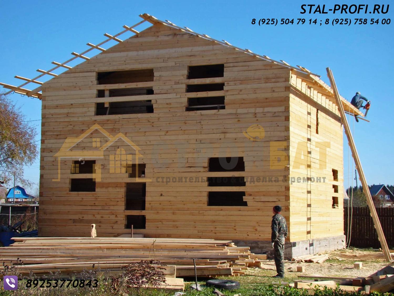Как построить дом из шпал своими руками